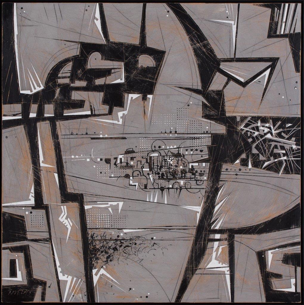 Bartkowski, Oksymoron, 2019, rysunek, 102x306, cz. 1