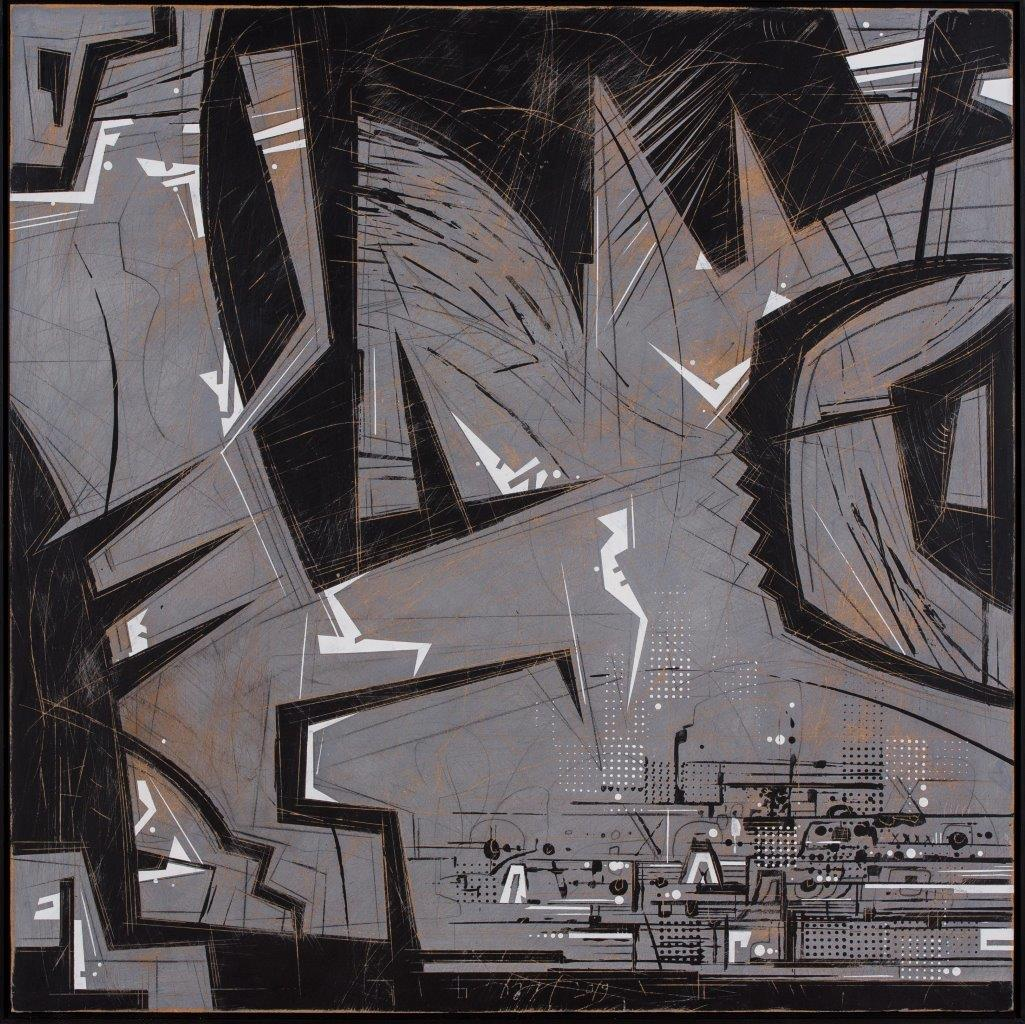 Bartkowski, Oksymoron, 2019, rysunek, 102x306, cz. 2